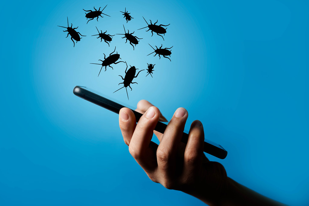 Smartphone infected with viruses
