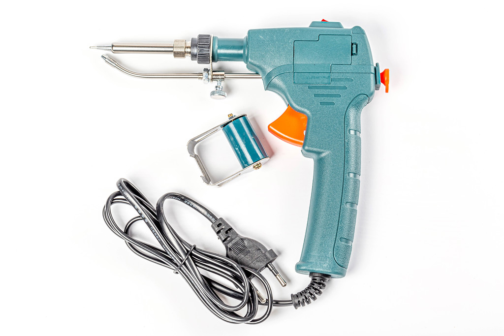Soldering iron with automatic tin feeding