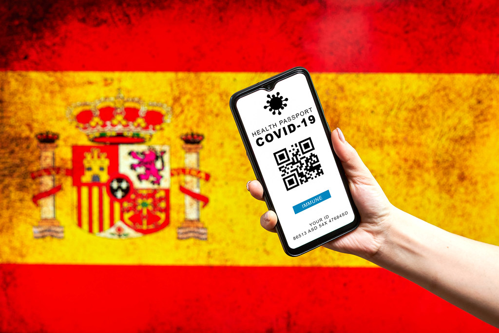 Spanish government issues Digital coronavirus passport