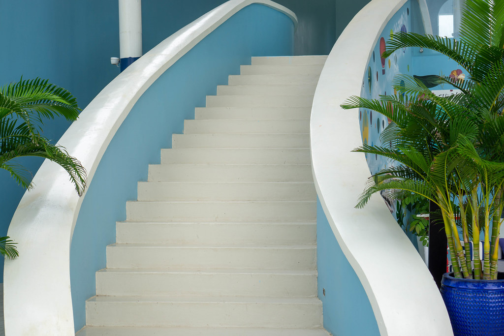 Staircase for Photoshoots with Plants around it at Istanbul Beach Club on Phu Quoc Island, Vietnam