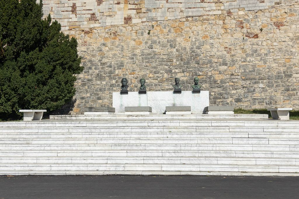 Statues and graves of heroes from world war II from Yugoslavia