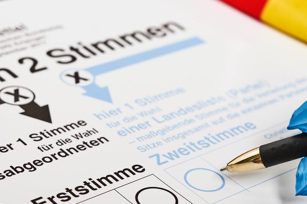 Stimmzettel zur Wahl, Deutschland, Europa