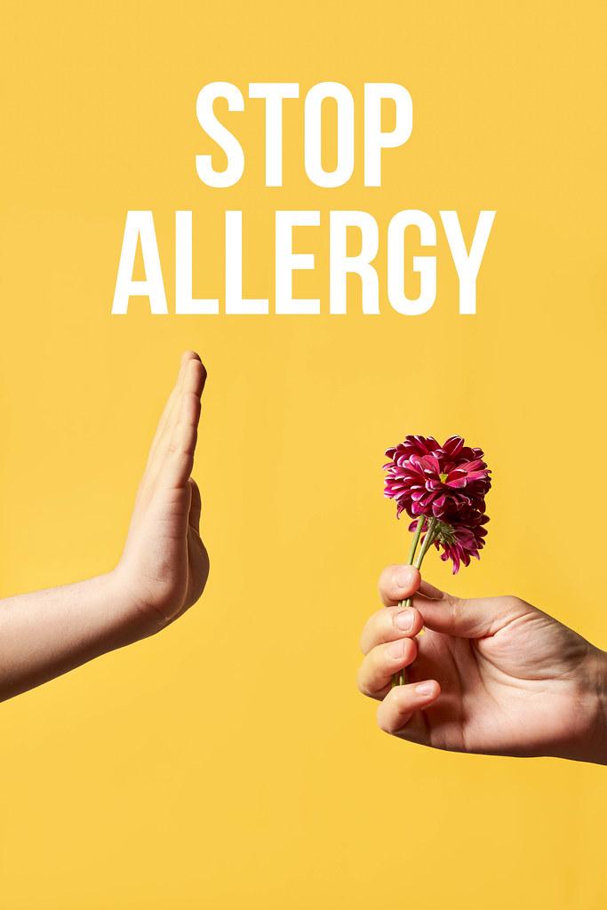 Stop allergy concept