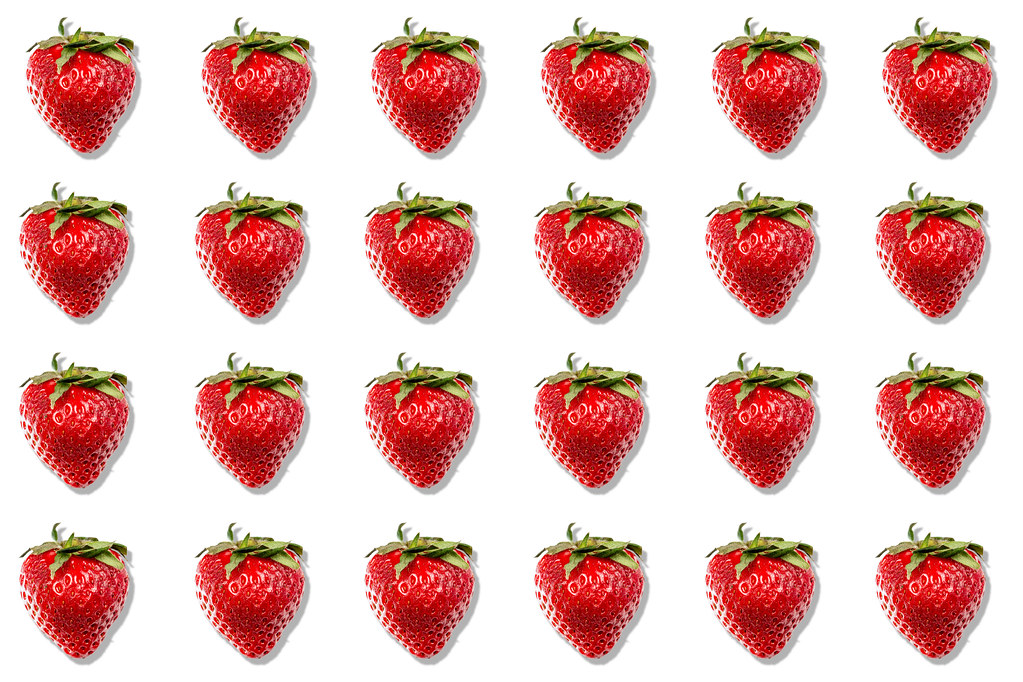 Strawberry summer concept background with copy space