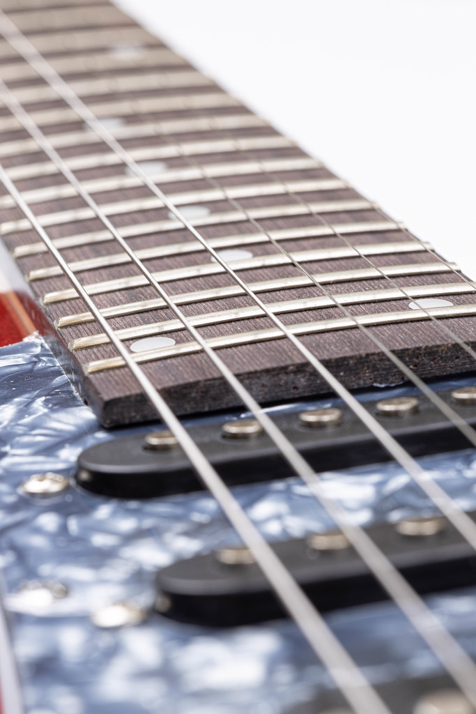 Strings and Frets on the Electric Guitar