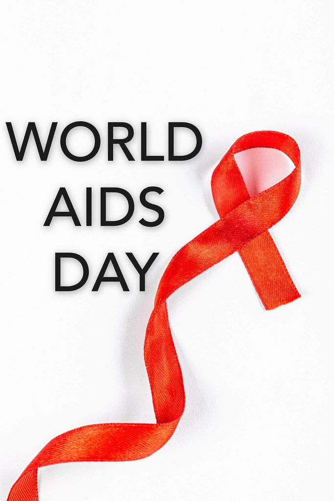 Support for hiv infected, world aids day
