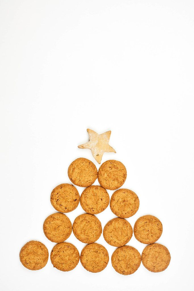 Sweet Christmas tree made with cookies