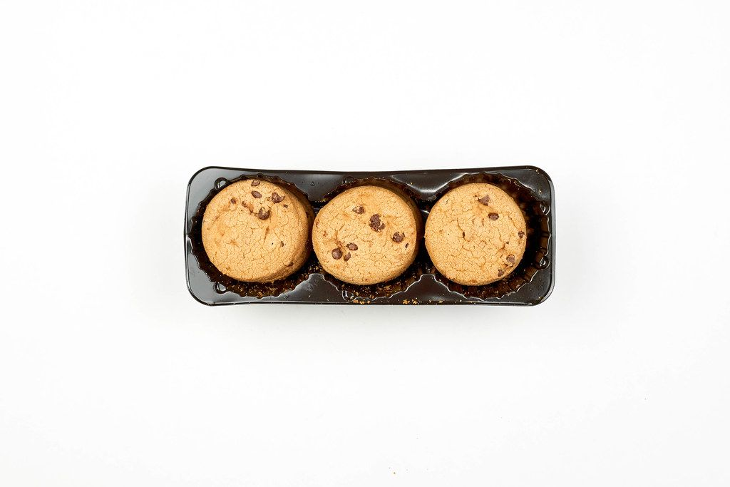 Sweet Cookies in Plastic Box