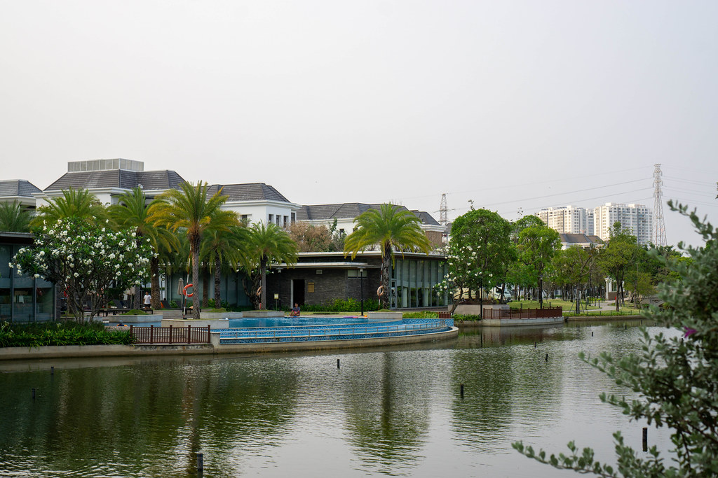 Swimming Pool and Gym of The Villas at Vinhomes Central Park Security Area in Binh Thanh District of Ho Chi Minh City, Vietnam