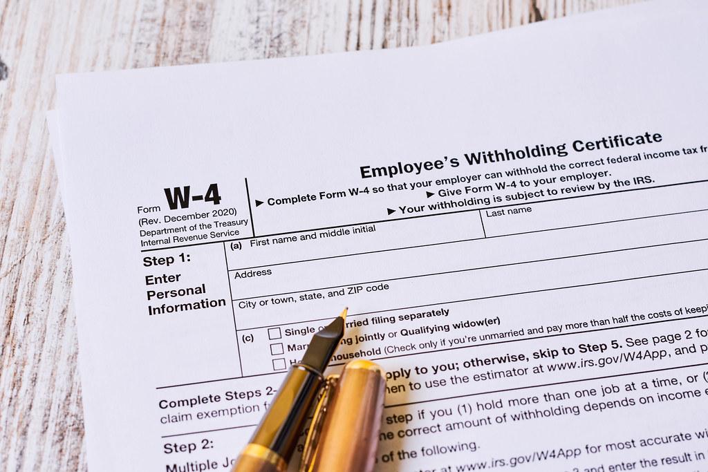 Tax form W-4