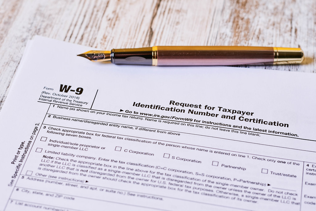 Tax form W-9 - Request for Taxpayer Identification Number and Certification