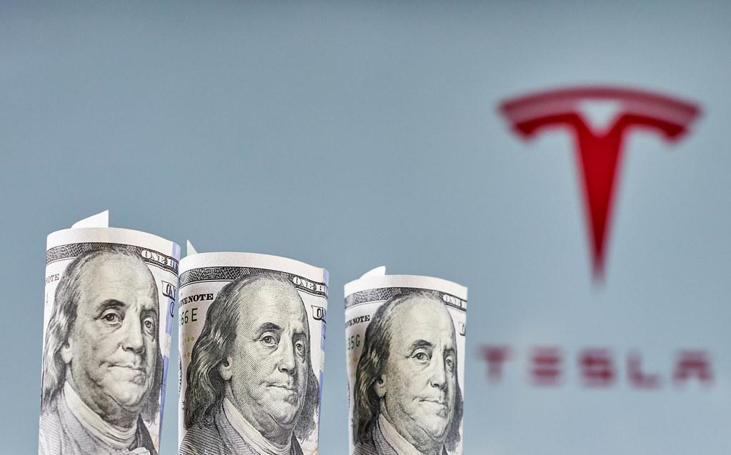 Tesla shares surge