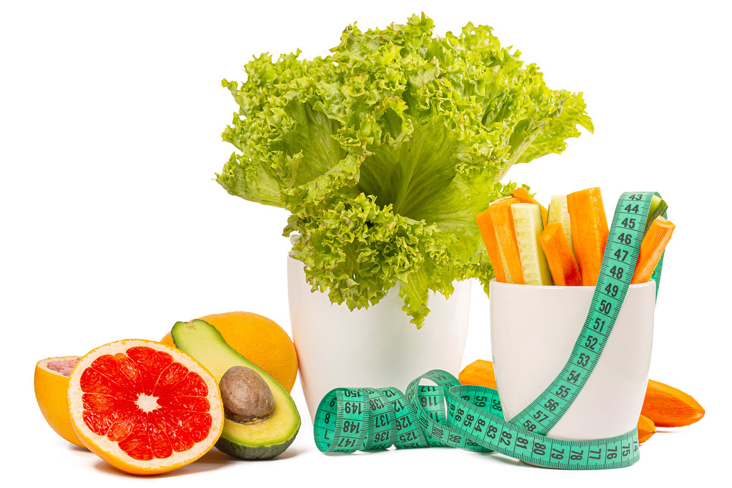 The concept of a healthy lifestyle and wholesome food