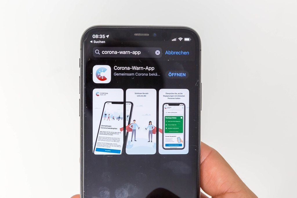 The Corona-Warn-App developed by the German government. Available on App Store and Google Play
