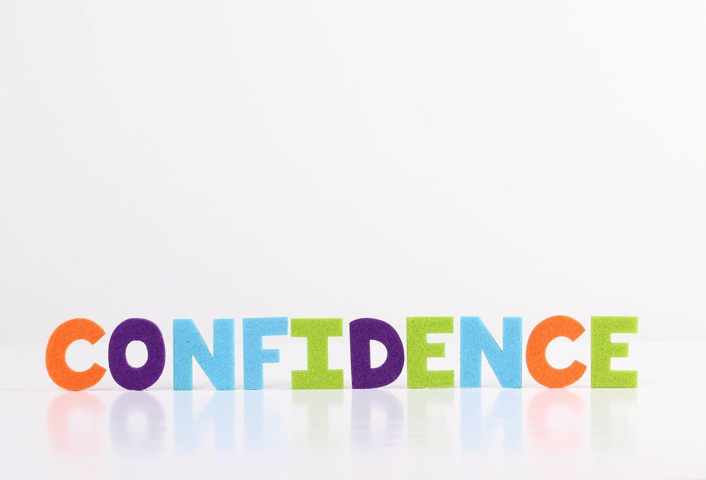 The word Confidence on white background