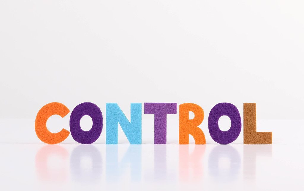 The word Control on white background