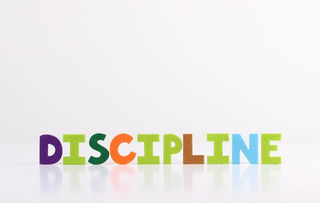 The word Discipline on white background