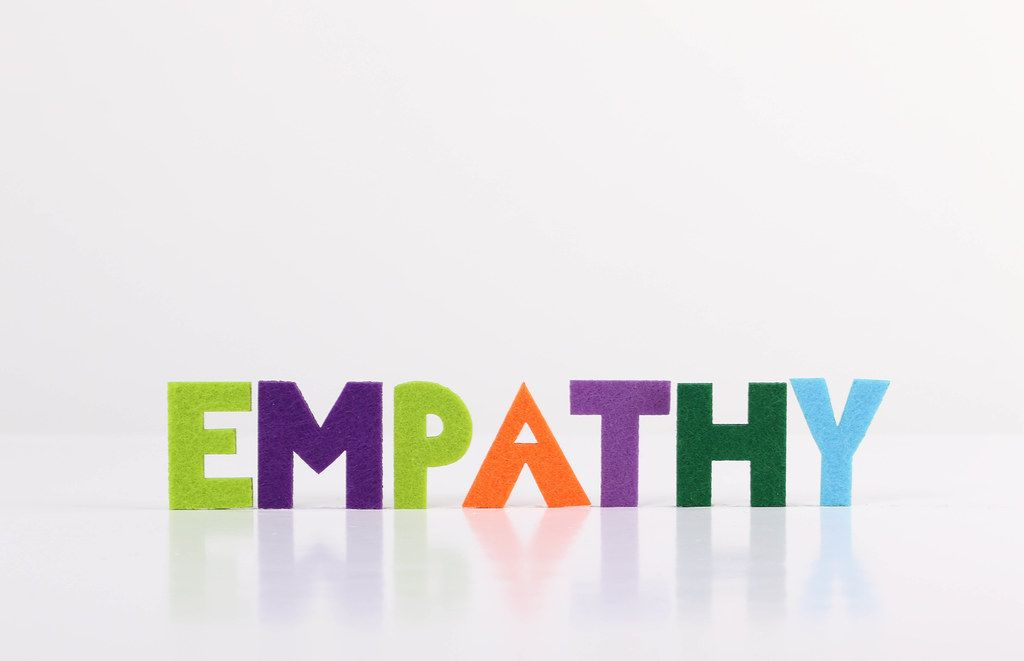 The word Empathy on white background