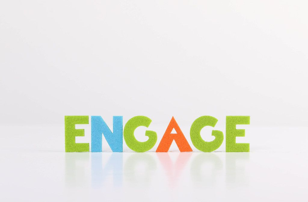 The word Engage on white background