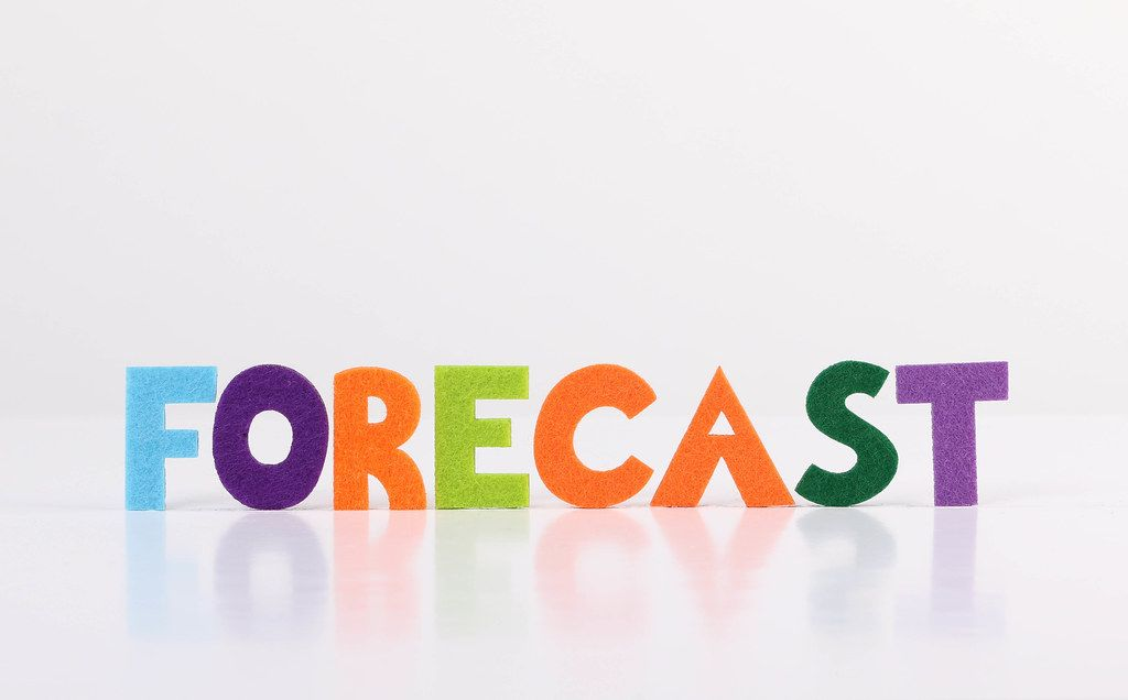 The word Forecast on white background