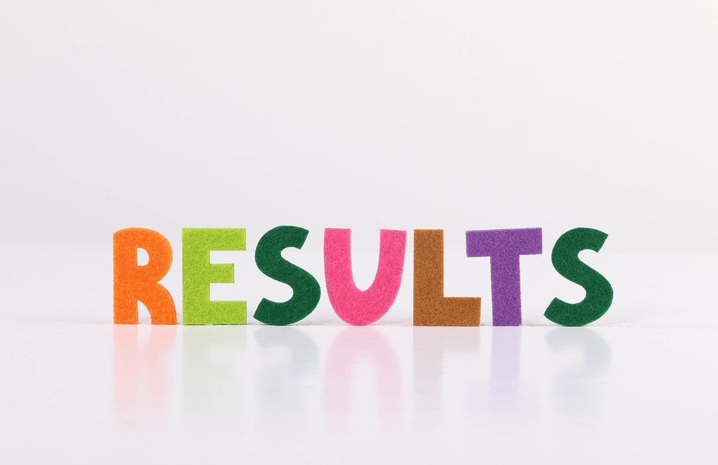 The word Results on white background