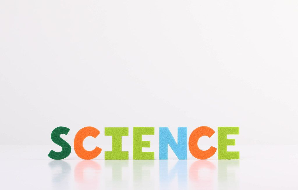 The word Science on white background