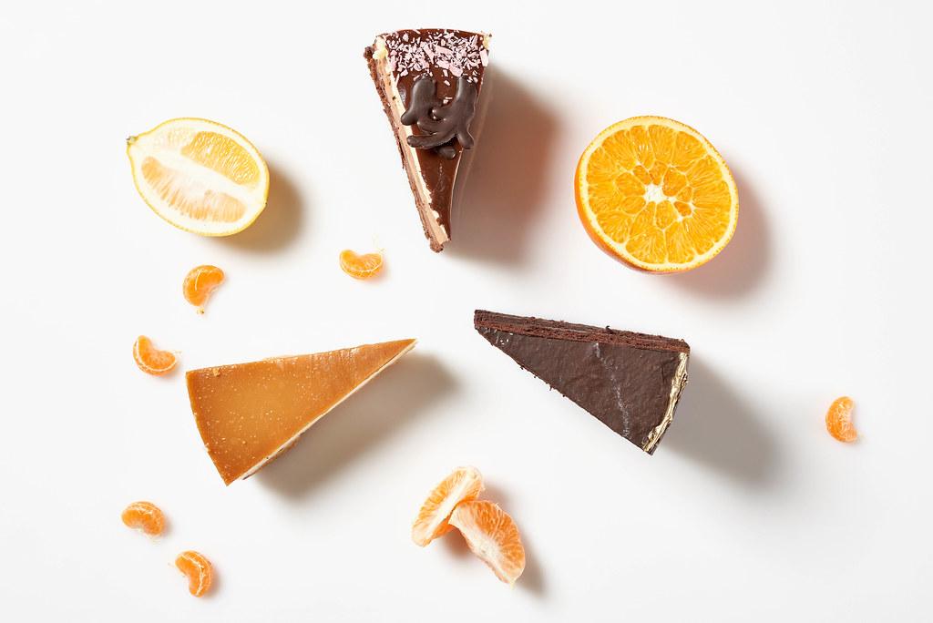 Three cake slices for dessert