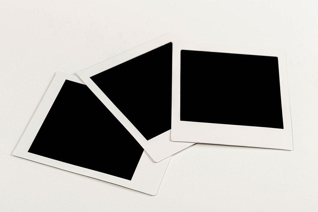 Three instant photos from Polaroid