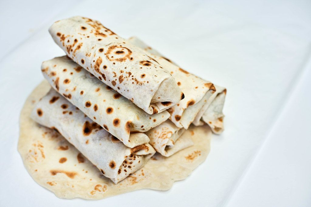 Traditional Middle Eastern snack - shawarma