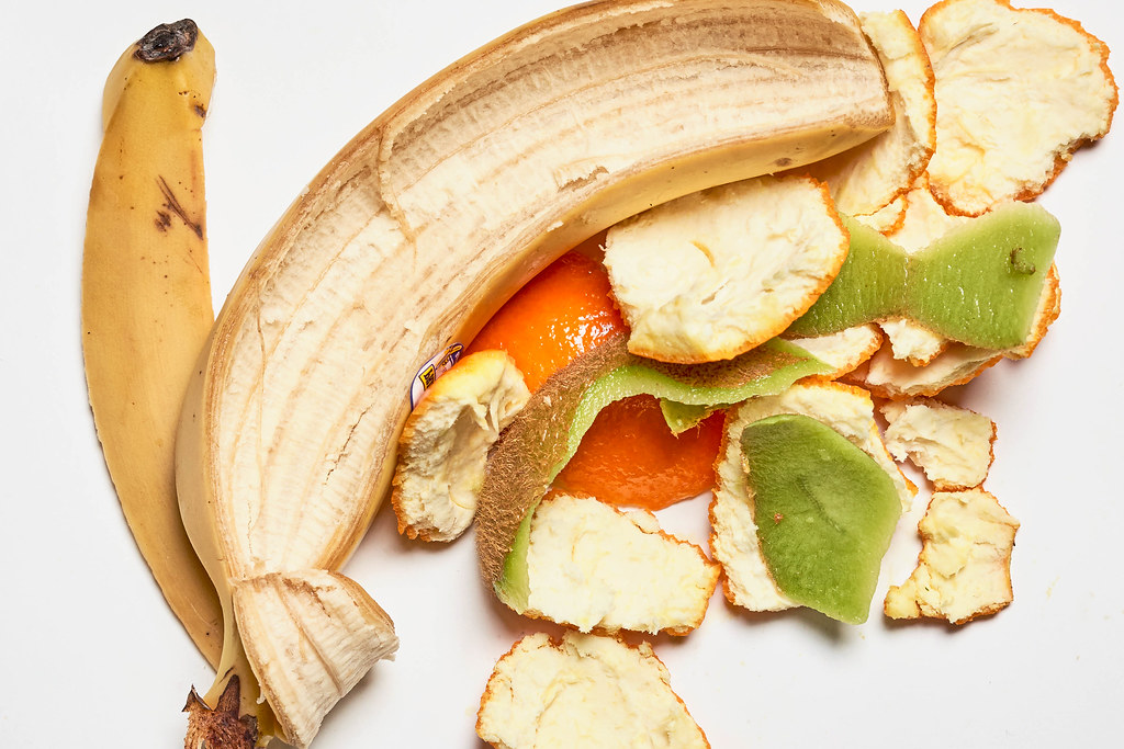 Tropical fruits leftover peels