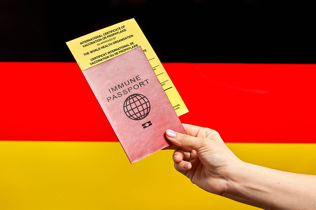 Visit Germany with Immune passport and International certificate of vaccination