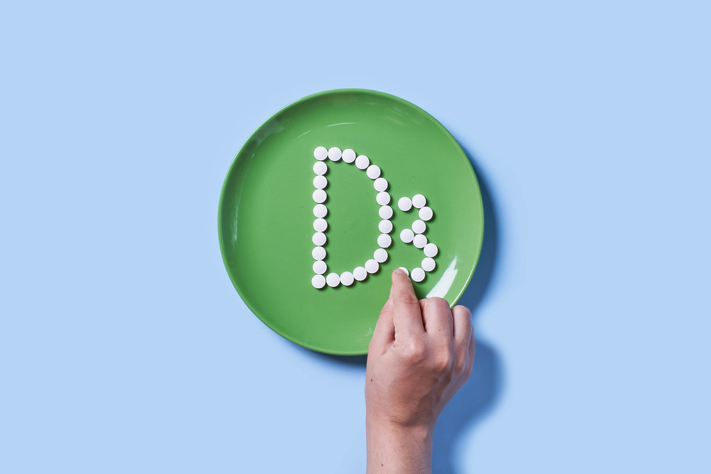 Vitamin D3 made of medical tablets