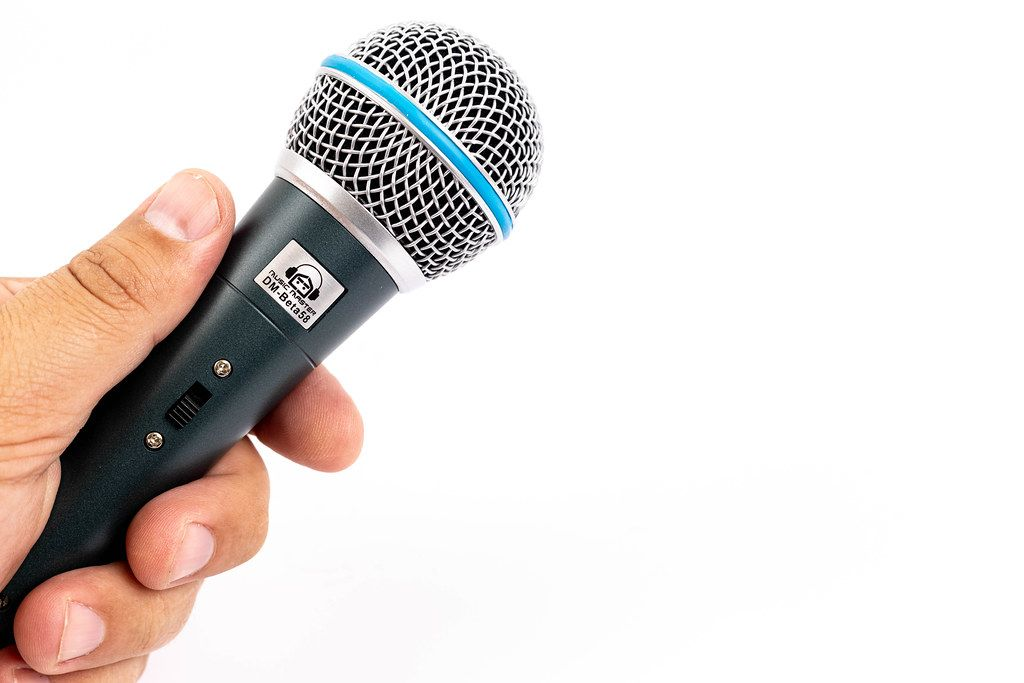 Vocal Microphone Music Master in the hand