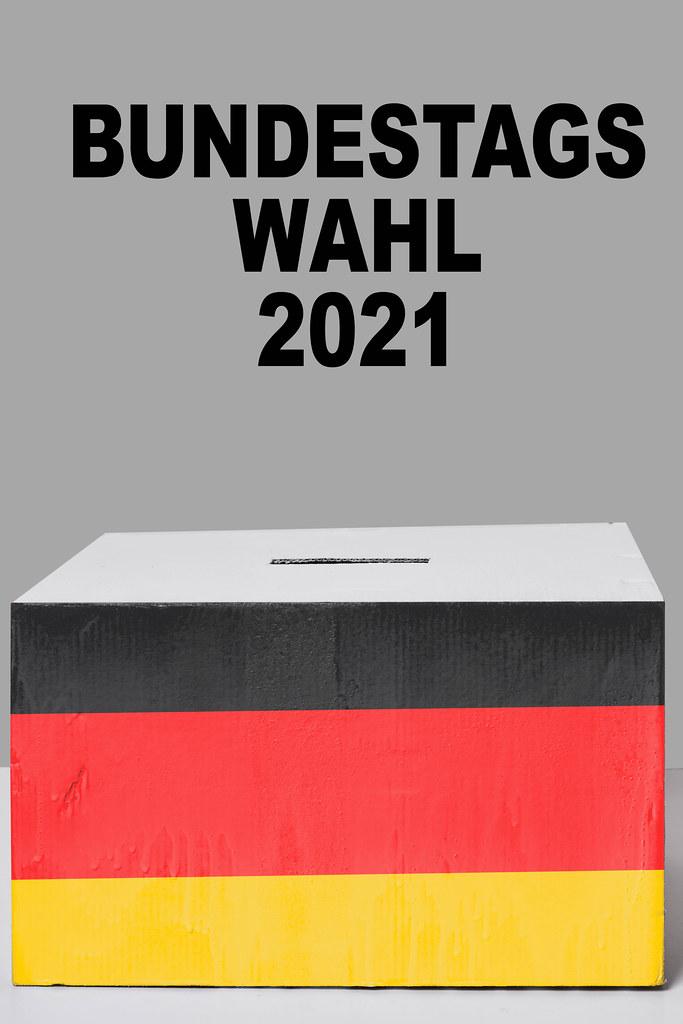 Voting box - Bundestag elections 2021, Germany. Bundestagswahl 2021