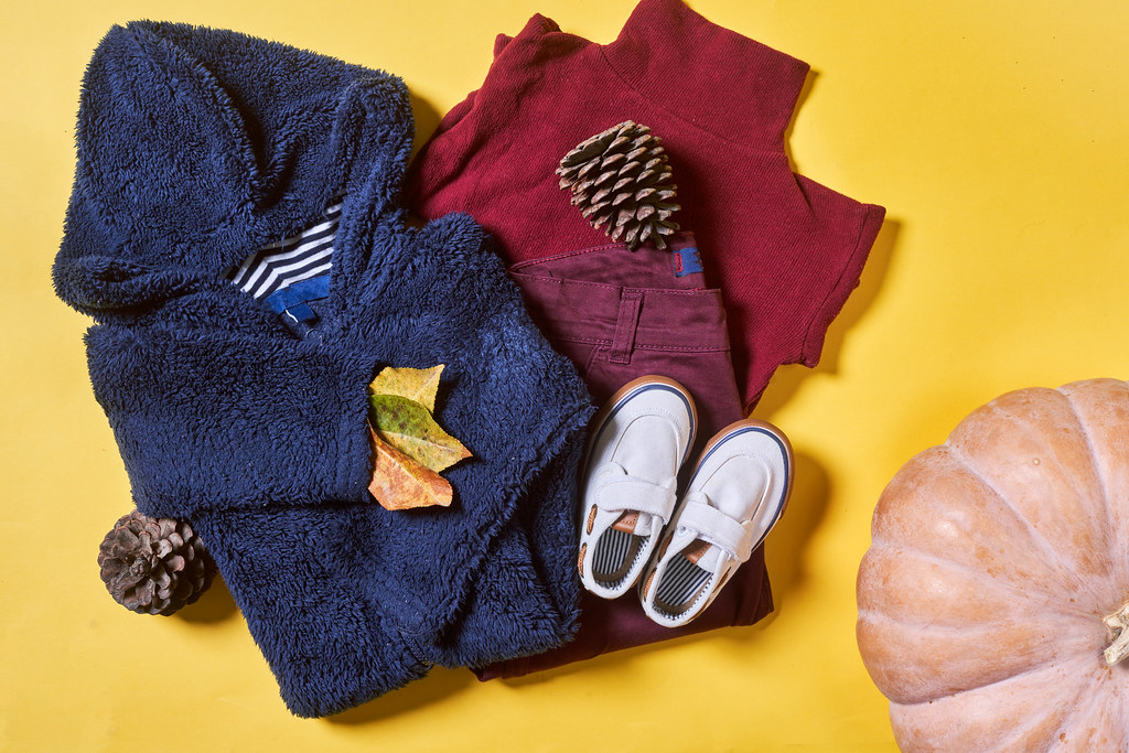 Warm baby clothes set for autumn season