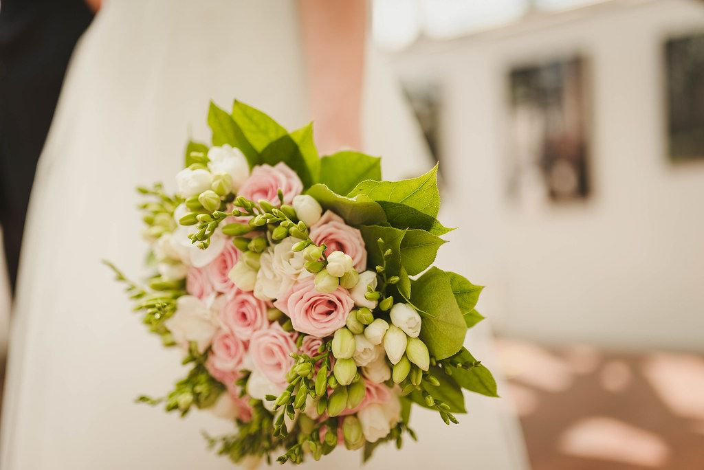 Wedding Floral Bouquet With Roses