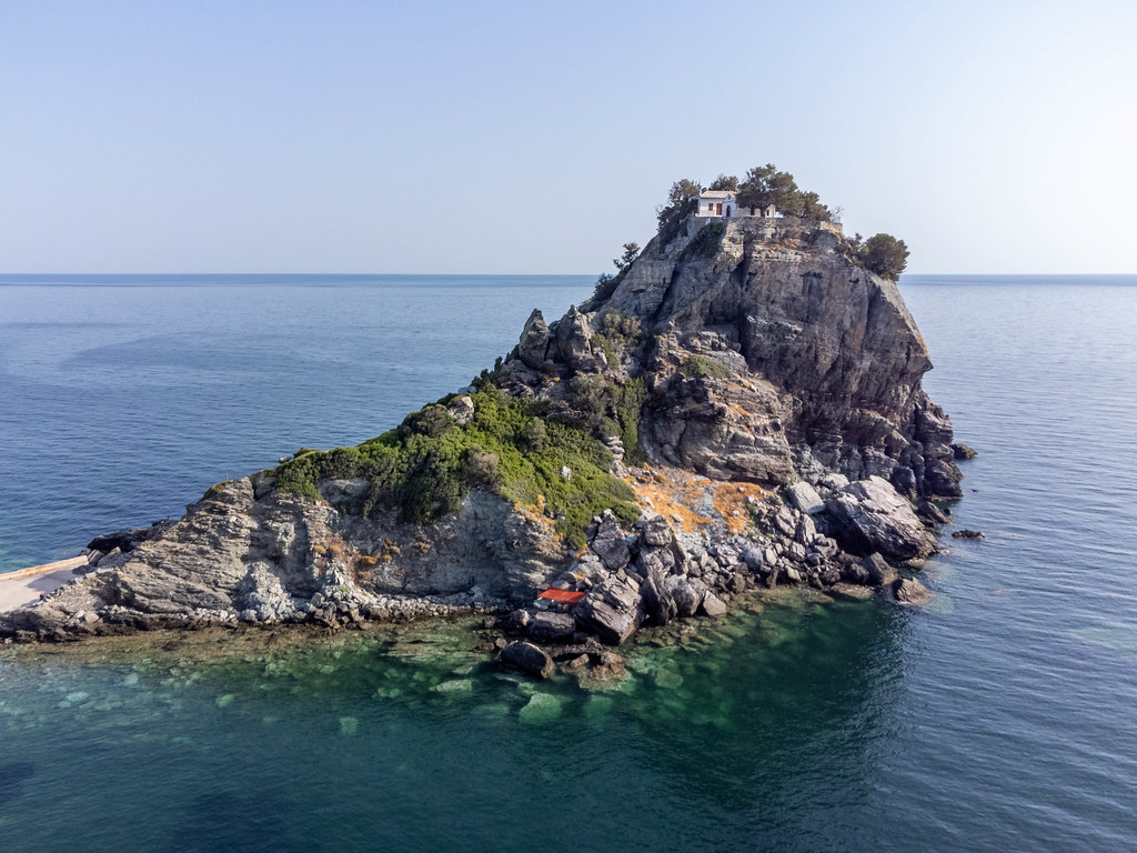 What to see on Greek island Skopelos: Agios Ioannis church and monastery 100 metres above the sea
