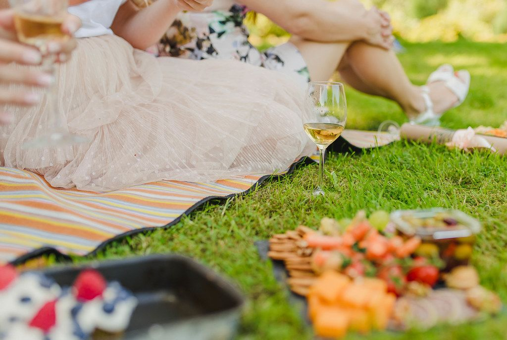 Wine Glass On The Grass - Picnic Time