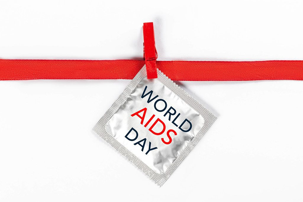 World AIDS Day. Concept of safety and contraception