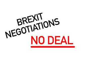 """""""Brexit Negotiations"""" (Brexit Verhandlungen) - Text  auf weiß"""