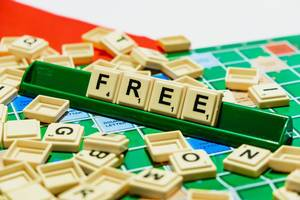 """Free"" word on scrabble"