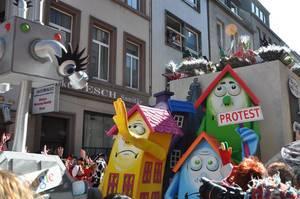"""Guugl Streetview"" am Rosenmontagszug 2011, Köln"