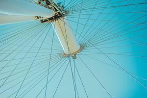 """""""London Eye"""" Riesenrad und Sehenswürdigkeit am Ufer der Themse, in London, Vereintes Königreich"""