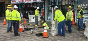 """Teamwork"" on Boardwalk Atlantic City"