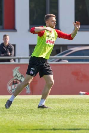 1. FC Köln Fußballspieler während des ersten Trainings vom Trainerduo André Pawlak und Manfred Schmid