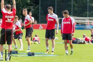 1. FC Köln Hantel-Training und Training mit Trainingsbändern