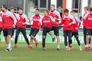 1. FC Köln Spieler beim Training am 30.01.2018