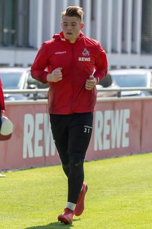 1. FC Köln Torwart Brady Scott während des Fußballtrainings vom neuen Mannschaftstrainer André Pawlak