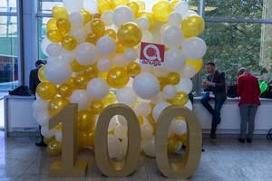 100 Jahre Anuga Messe in Köln - Luftballons zum Jubliäum