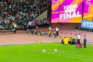 100 Meter Lauf Finale IAAF Leichtathletik-Weltmeisterschaften 2017 in London